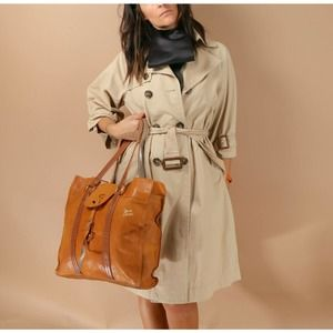 SEE BY CHLOE Camel Beige Leather Buckle Tote Bag